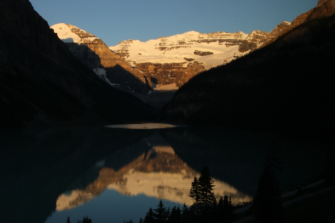 Lake Louise, by the dawn's early light.