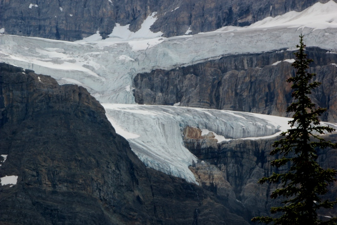 One of the six glaciers -- and yes! we did see a big chunk fall!