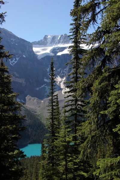 Surreal color of Lake Moraine is real -- I promise!