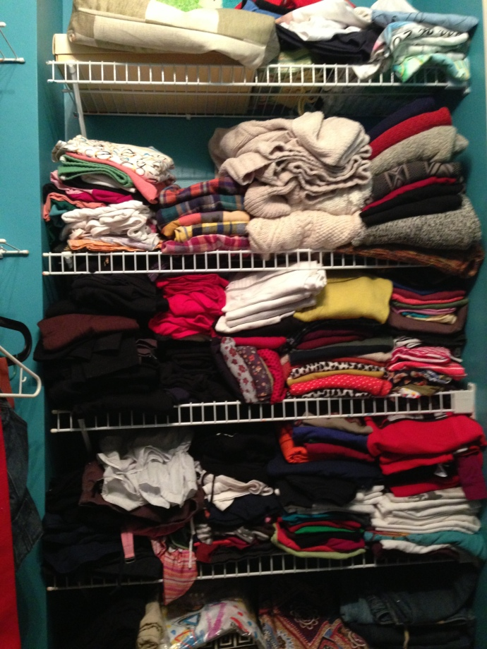 120 t-shirts? 28 sweatshirts? Seriously??