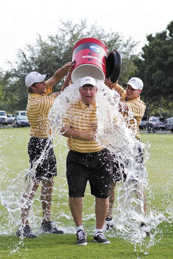 Coach Owen winning the national D-3 title in 2012. Matt Marriott/NCAA Photos
