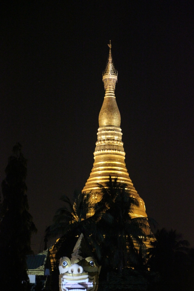 ...Except for the solid gold  Shwedagon Pagoda, which is like Disneyland for Buddhists.