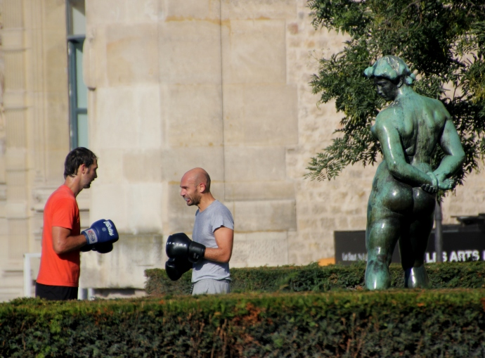 Boxing in Tuileries
